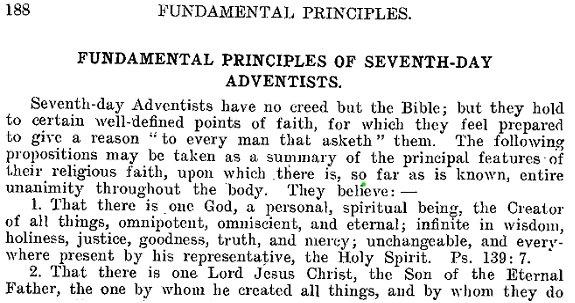SDA Doctrine of God